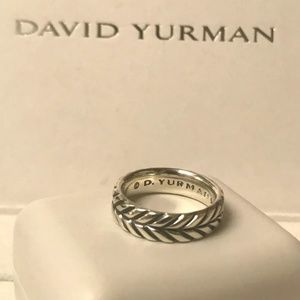 David Yurman Mens Narrow 6mm Chevron Cable ring 9